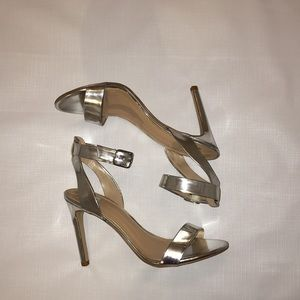 Dolce Vita Silver Ankle Heel Shoes Size 7.5